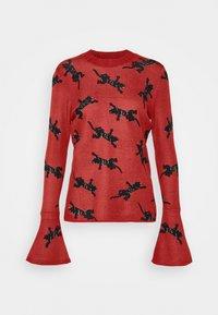 Diane von Furstenberg - BEVERLY SWEATER - Neule - red/black - 6