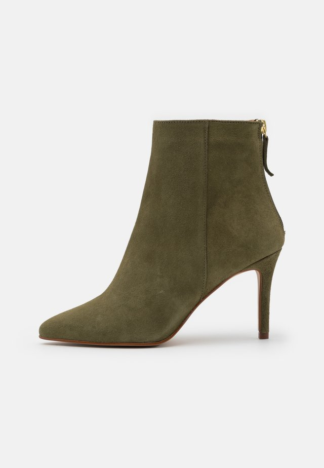 BIADANGER - High heeled ankle boots - pale green