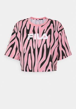 EPONA CROPPED TEE - T-shirts med print - peony