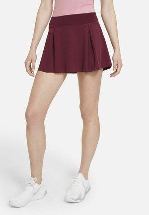 Pleated skirt - dark beetroot/white