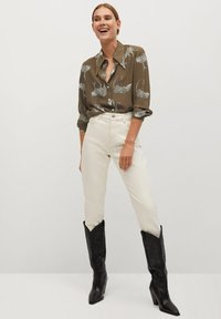 Mango - ANI-I - Button-down blouse - kaki - 1