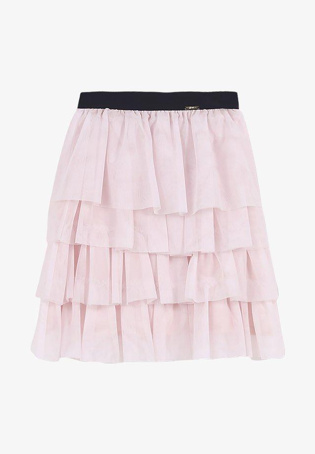 Veckad kjol - pearl pink