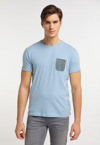 Petrol Industries - T-shirt imprimé - parrot blue - 0