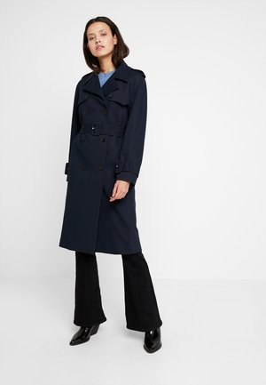 SOFT GABARDINE MID LENGTH - Trenchcoat - blue