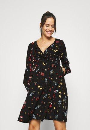 SPRIG WRAP DRESS - Robe d'été - black