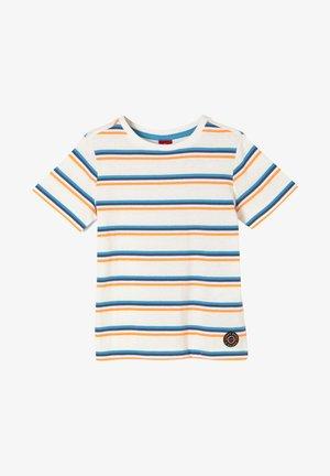 Print T-shirt - cream stripes