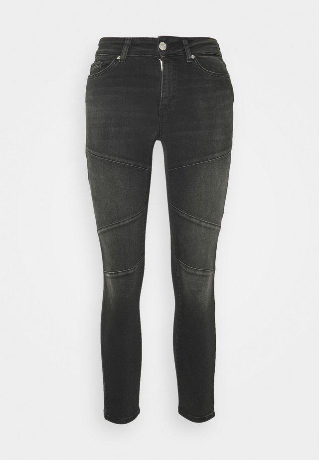 ONLBLUSH CUT LIFE MID - Jeans Skinny Fit - black denim