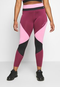 Nike Performance - ONE PLUS - Leggings - magic flamingo/villain red/game royal - 0