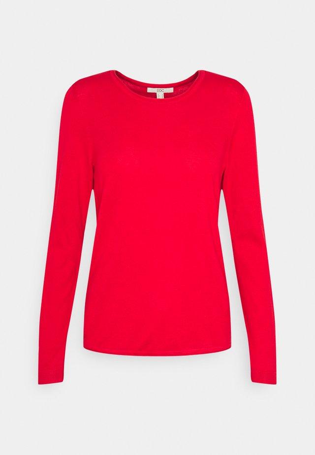 BASIC NECK - Jumper - red