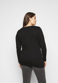 Kaffe Curve - LIMA - Long sleeved top - black deep - 2