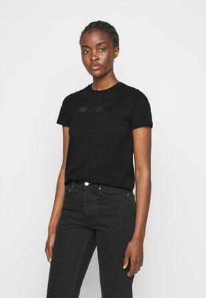 RHINESTONE LOGO  - T-Shirt print - black