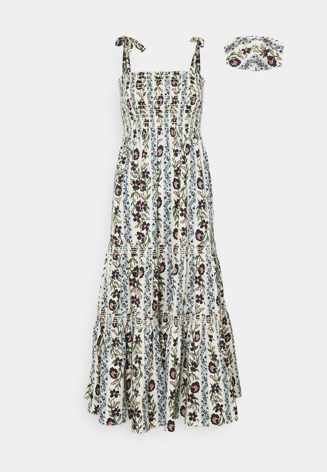 PRINTED TIE SHOULDER DRESS - Korte jurk - climbing vines