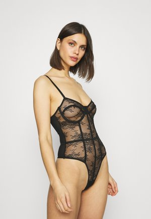 BINDING DETAIL THONG - Body - black