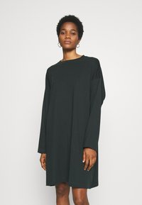 Weekday - ELKE LONG SLEEVE DRESS - Jersey dress - bottle green - 0