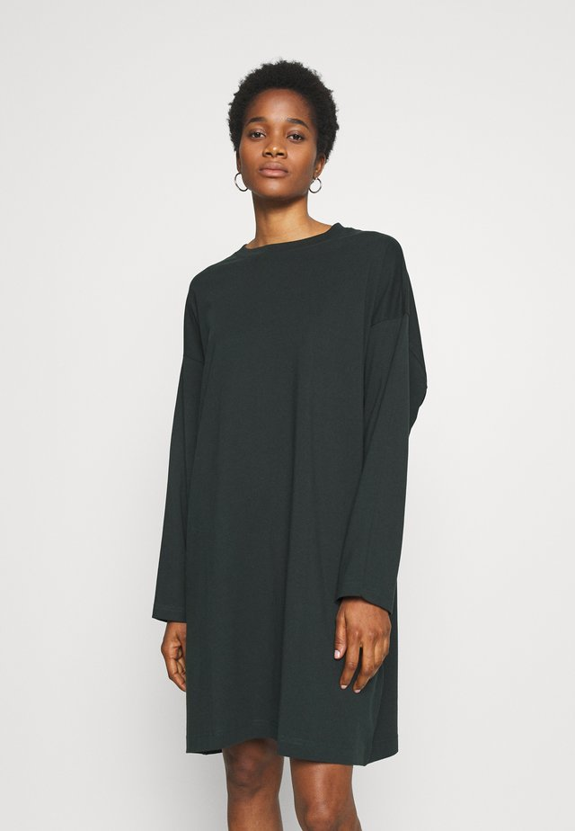 ELKE LONG SLEEVE DRESS - Sukienka z dżerseju - bottle green