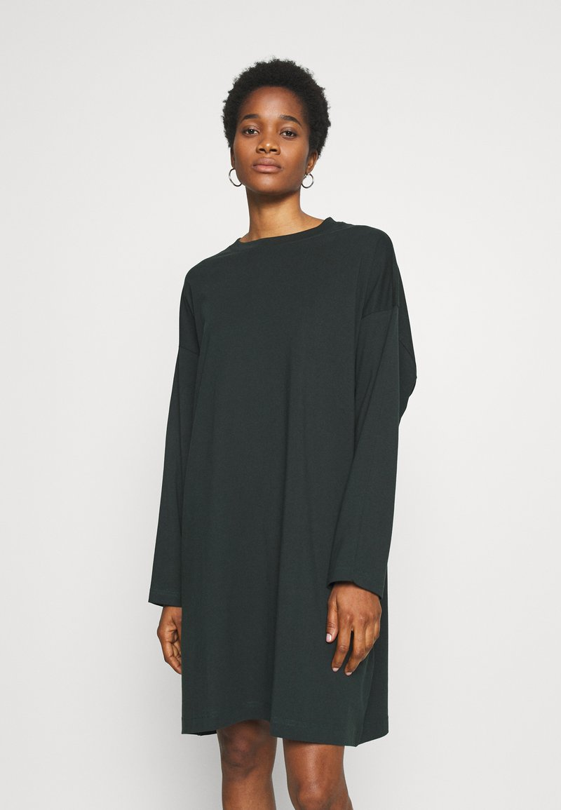Weekday - ELKE LONG SLEEVE DRESS - Jersey dress - bottle green