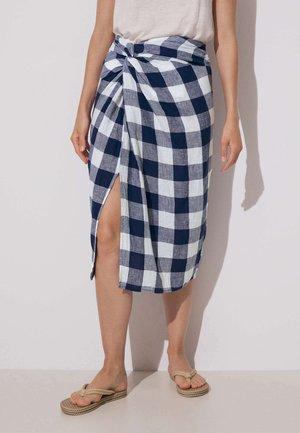 Wrap skirt - dark blue