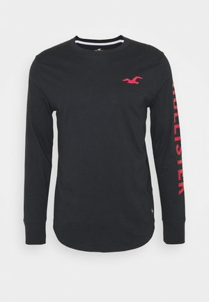ICONIC PRINT LOGO - Long sleeved top - black