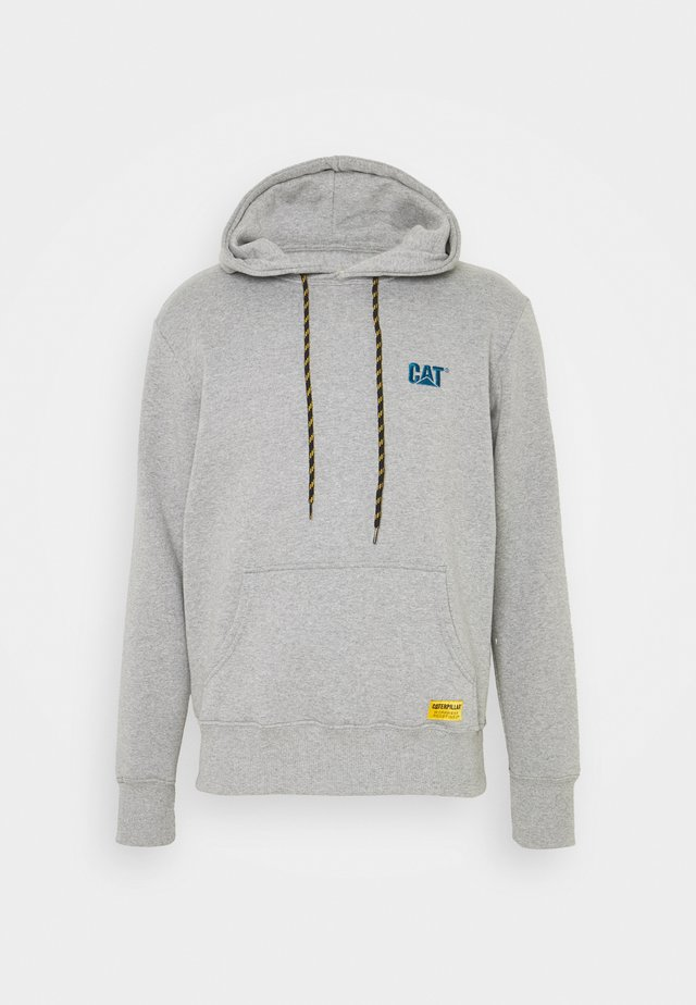 CAT SMALL LOGO HOODIE - Felpa con cappuccio - heather grey