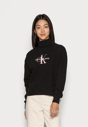 MID SCALE MONOGRAM ROLL NECK - Sweatshirt - black