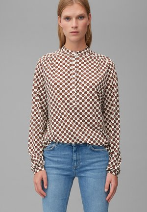 Button-down blouse - multi/off white