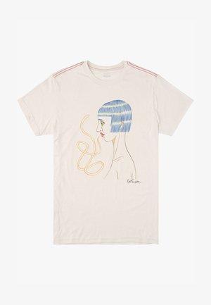 T-shirt print - antique white