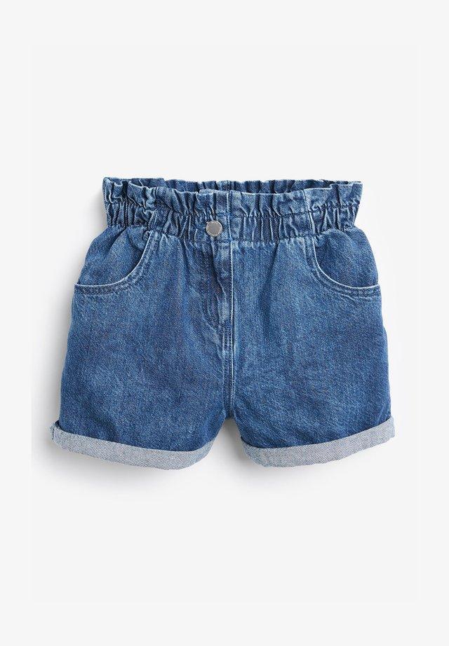 PAPERBAG - Shorts di jeans - blue denim