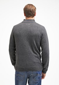 Pier One - Strikkegenser - dark grey melange - 2