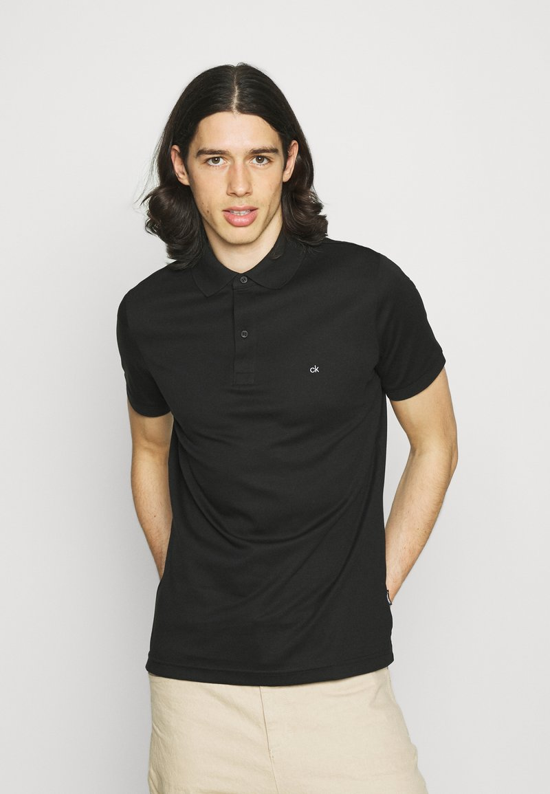 Calvin Klein - LIQUID TOUCH SLIM FIT - Pikeepaita - black