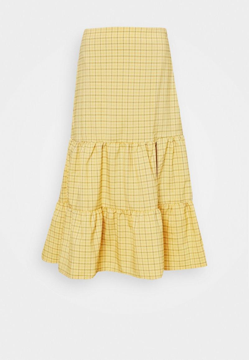 Fashion Union - PARADISO SKIRT - A-line skirt - yellow check