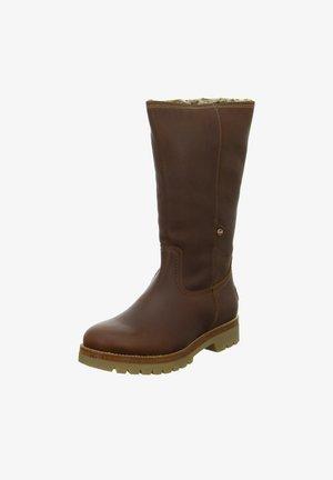 Winter boots - cuero/bark