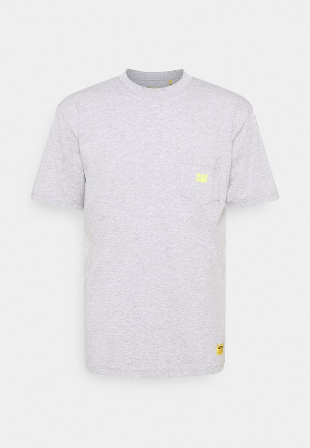 POCKET TEE - Print T-shirt - heather grey