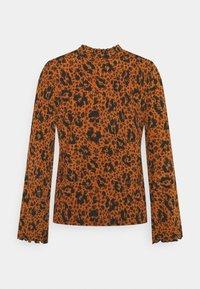 TOM TAILOR DENIM - SMOCKED NECK - T-shirt à manches longues - brown - 1