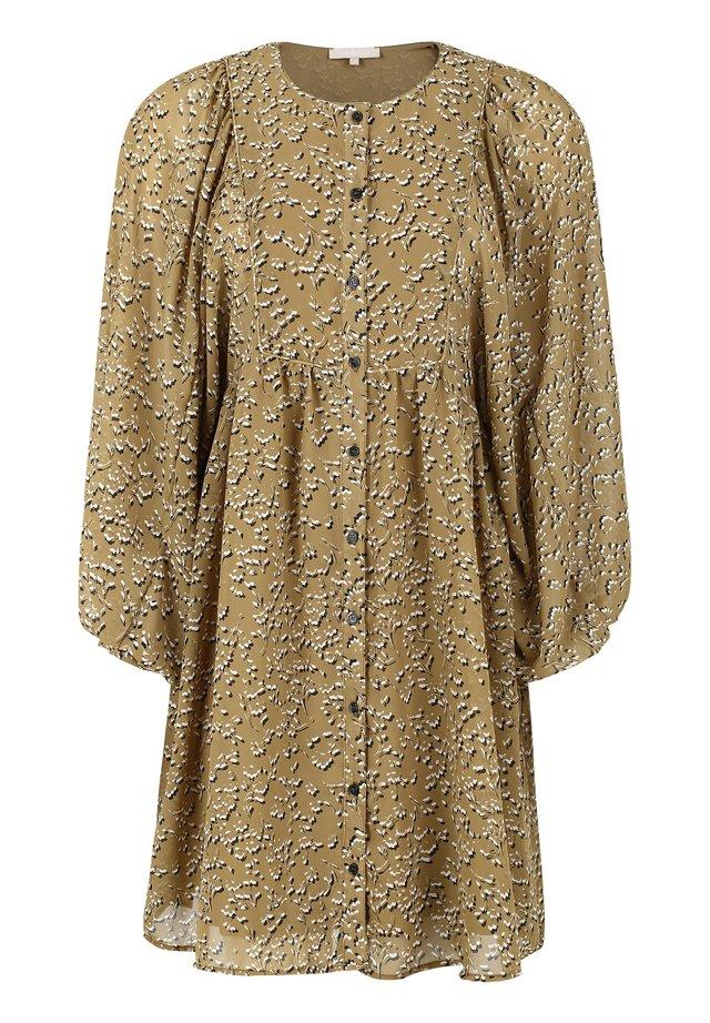 Day dress - 529 manja print antique bronze