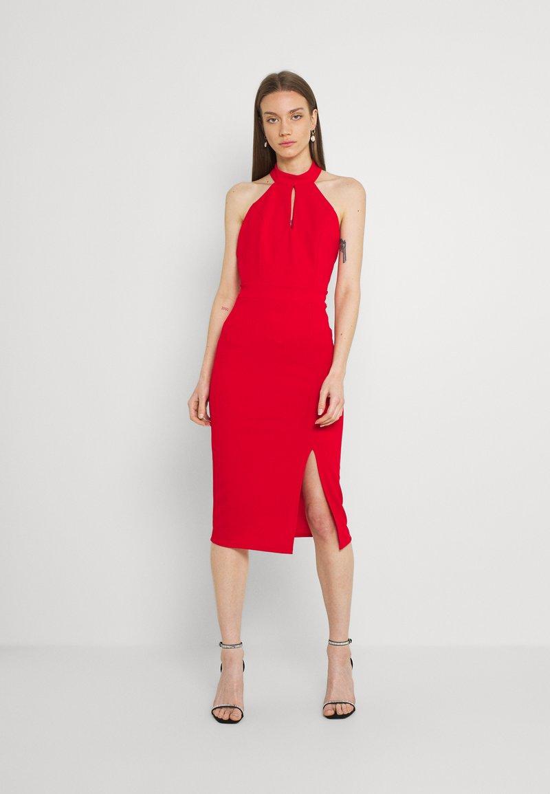 WAL G. - JAYNE LEE HALTER NECK DRESS - Cocktail dress / Party dress - red