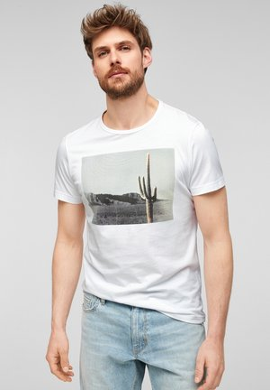 MIT FOTOPRINT - Print T-shirt - white