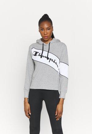 HOODED - Sweatshirt - oxi grey melange