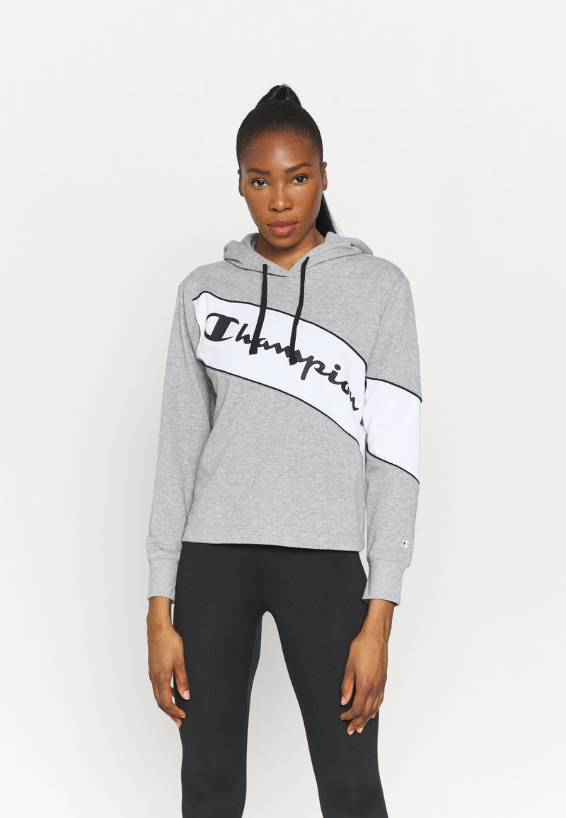 Champion - HOODED - Sweatshirt - oxi grey melange
