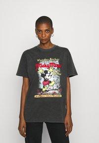 Desigual - VINTAGE MICKEY - T-shirts print - gris medio - 0