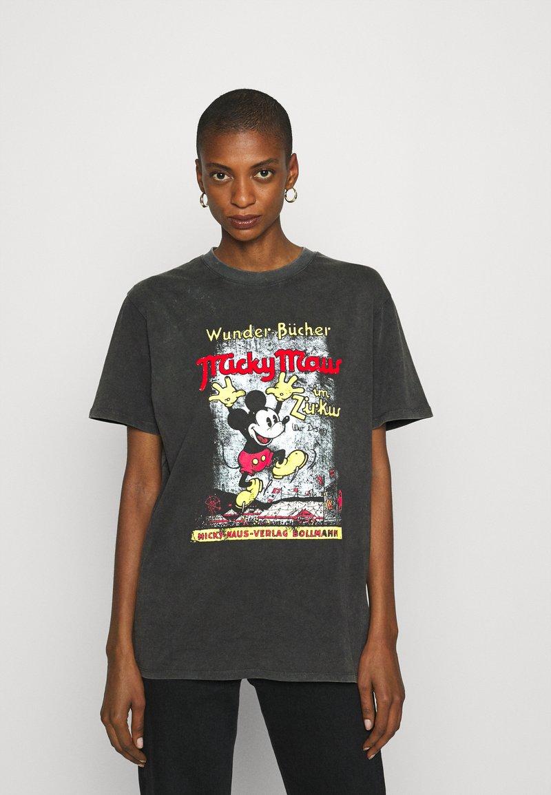 Desigual - VINTAGE MICKEY - T-shirts print - gris medio