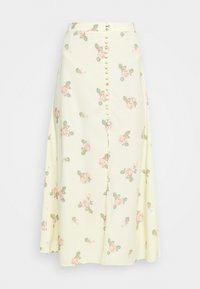 Glamorous - MIDI SKIRTS WITH FRONT SPLIT - A-line skirt - yellow/pink - 5