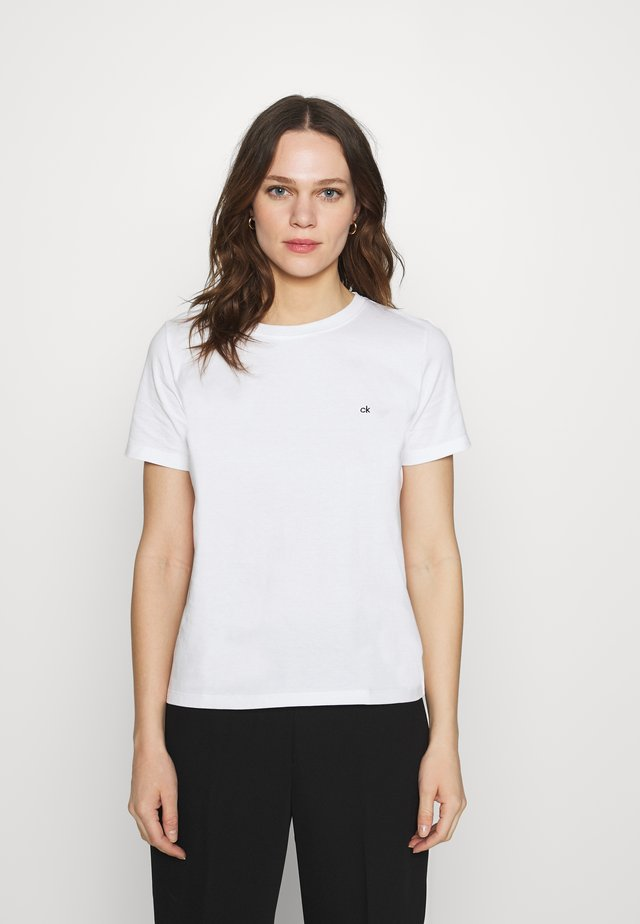 SMALL CNECK  - Jednoduché triko - bright white