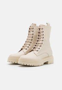 Bianca Di - Platform ankle boots - avorio - 2