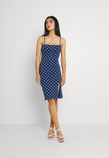 Jerseykjole - blue/white
