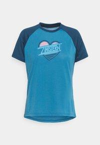 HEARTZ TEE - T-shirt imprimé - blue steel/french navy