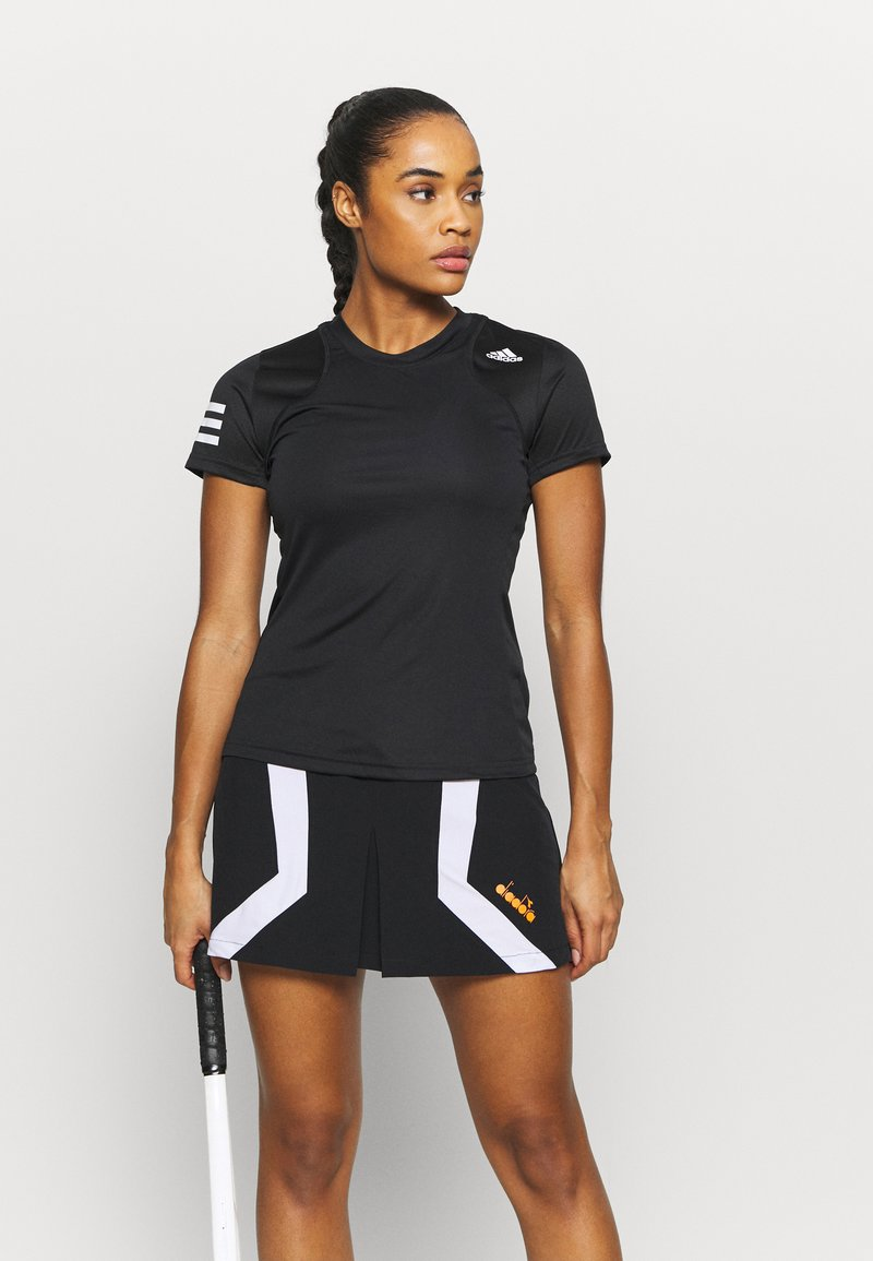 adidas Performance - CLUB TEE - Print T-shirt - black/white
