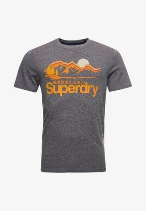 Print T-shirt - grey grit