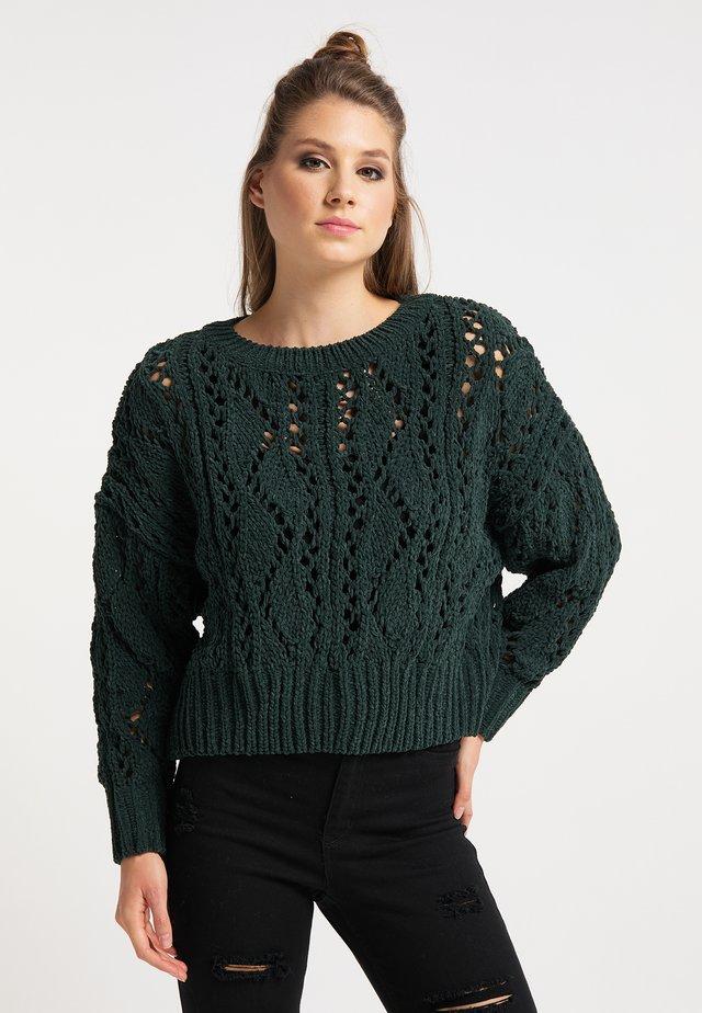 Svetr - dunkelgrün