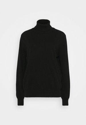 ANNALISE - CASHMERE ROLL NECK - Strickpullover - black