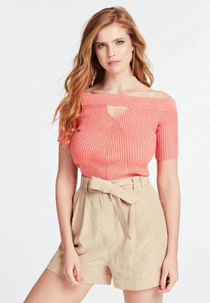 GERIPPTER PULLOVER - T-shirt con stampa - rose